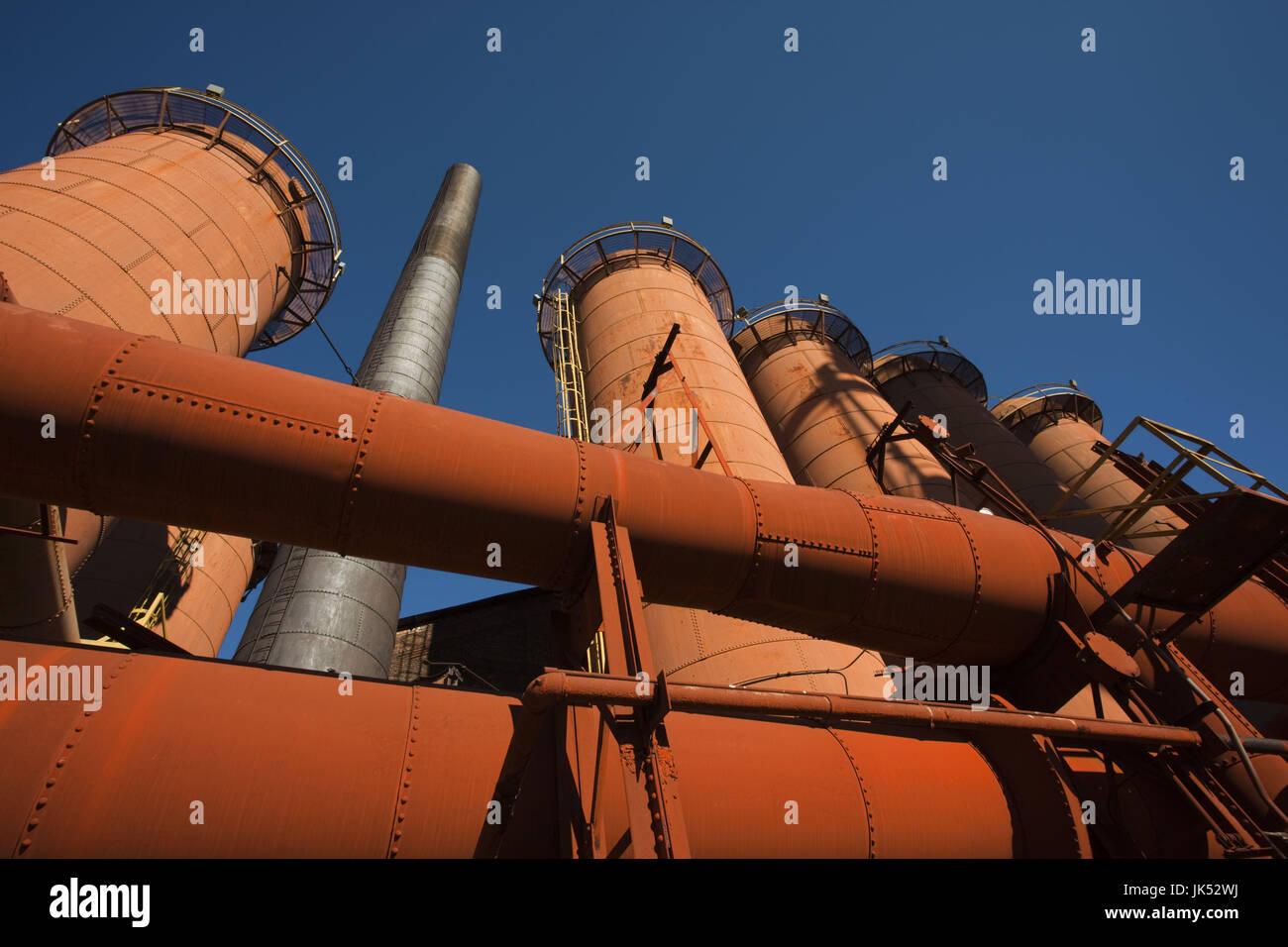 USA, Alabama, Birmingham, Sloss Furnaces National Historic Landmark, late 19th to mid 20th century blast furnace, - Stock Image