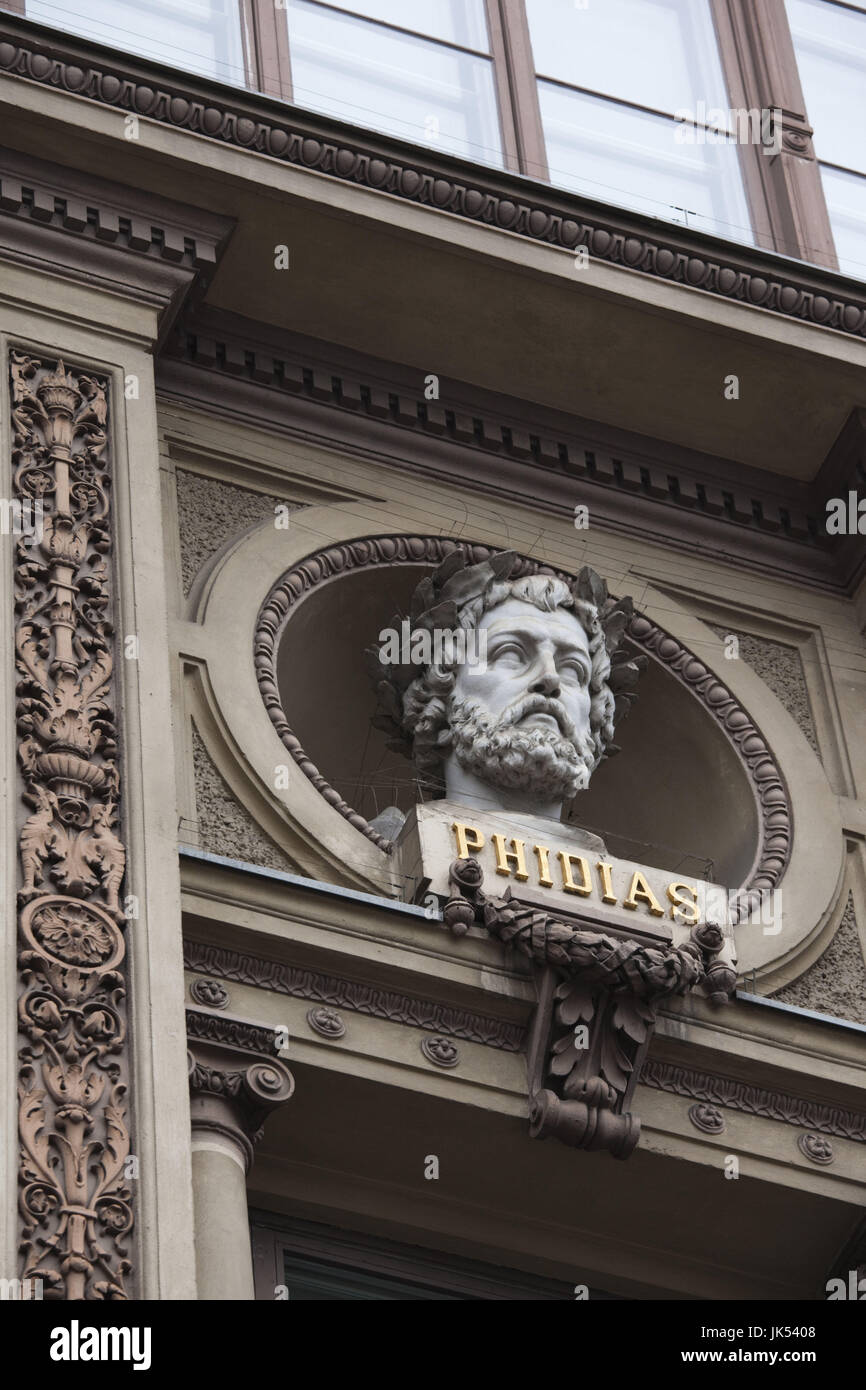 Finland, Helsinki, Ateneum Museum detail, bust of Phidias, sculptor from ancient Greece, 480-430 BC - Stock Image
