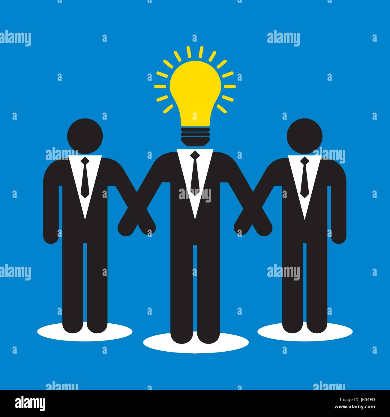Creative leadership in teamwork business solution - Stock Vector