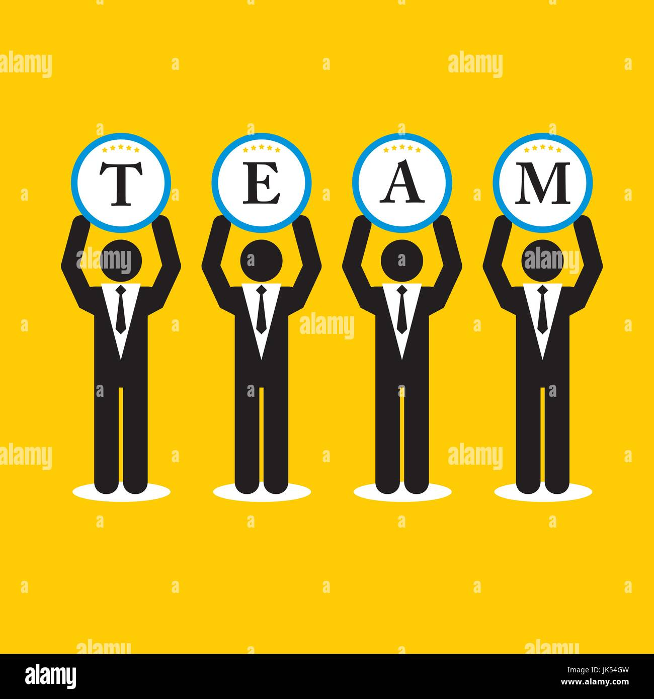 Businessman cooperation in teamwork vector illustration - Stock Vector