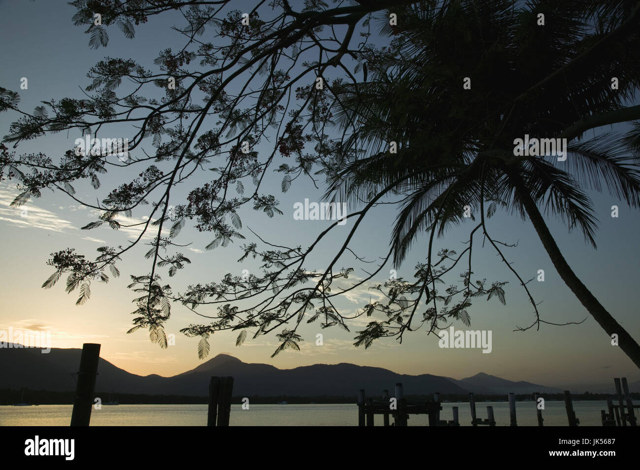 Australia, Queensland, North Coast, Cairns, Cairns Waterfront, Sunrise, Stock Photo