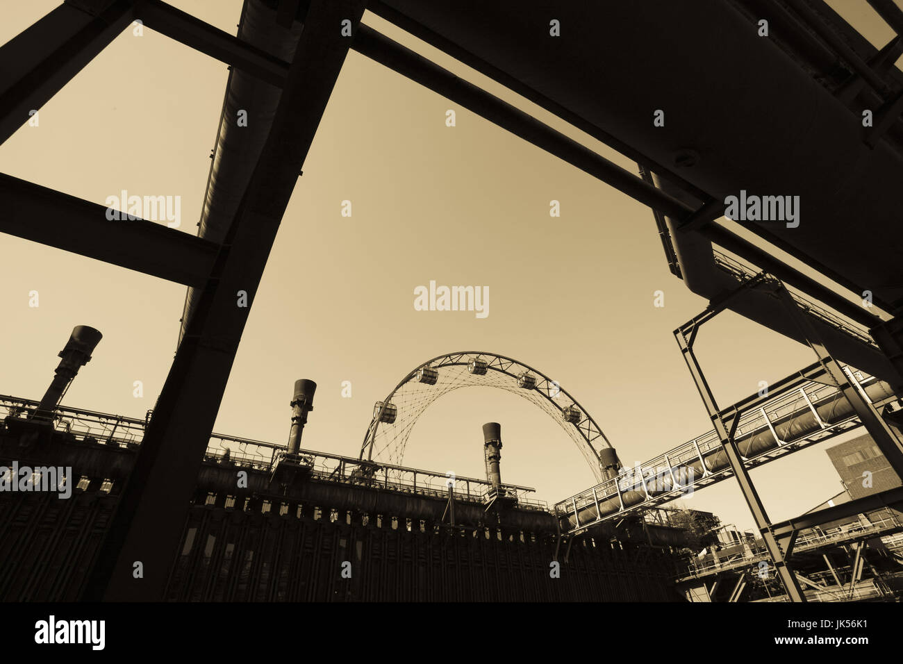 Germany, Nordrhein-Westfalen, Ruhr Basin, Essen, World Heritage Zollverein former coal mine, Coking Plant, - Stock Image