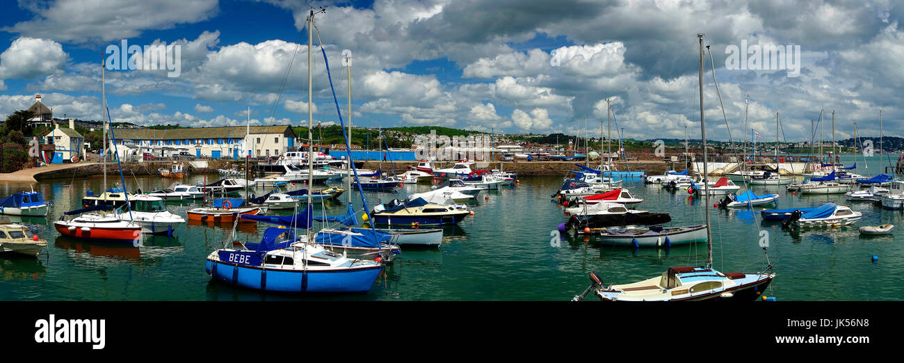 GB - DEVON: Panoramic view of Paignton Harbour - Stock Image