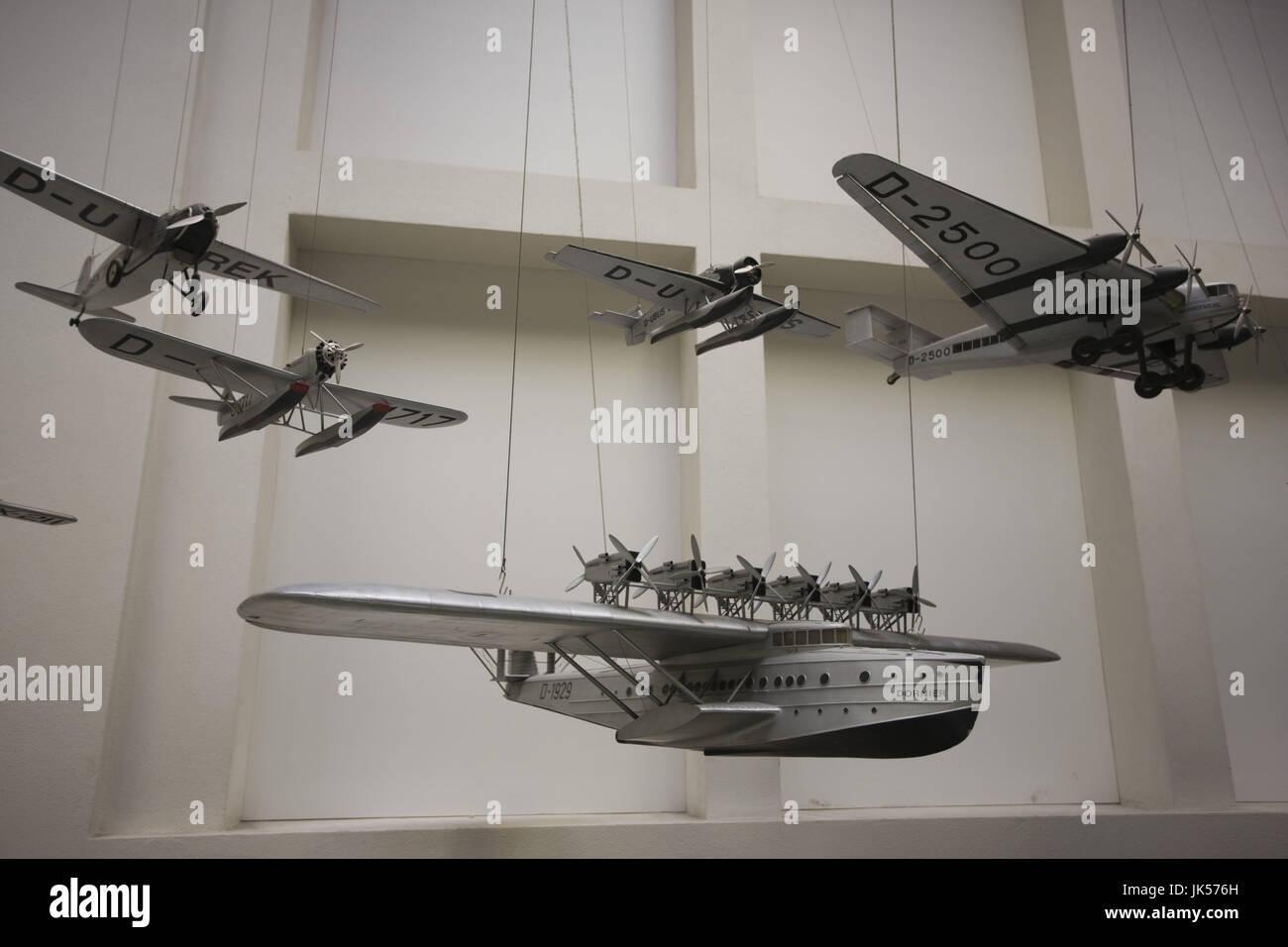 Germany, Bavaria, Munich, Deutsches Museum, Aviation Section, 1930s Dornier DO-X Flying Boat, - Stock Image