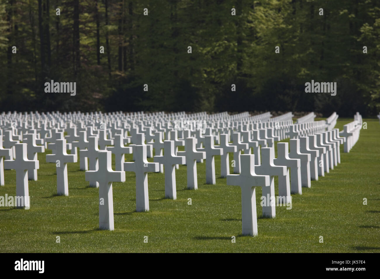 Luxembourg, Hamm, US Military Cemetery containing the graves of more than 5000 US war dead from WW2, - Stock Image