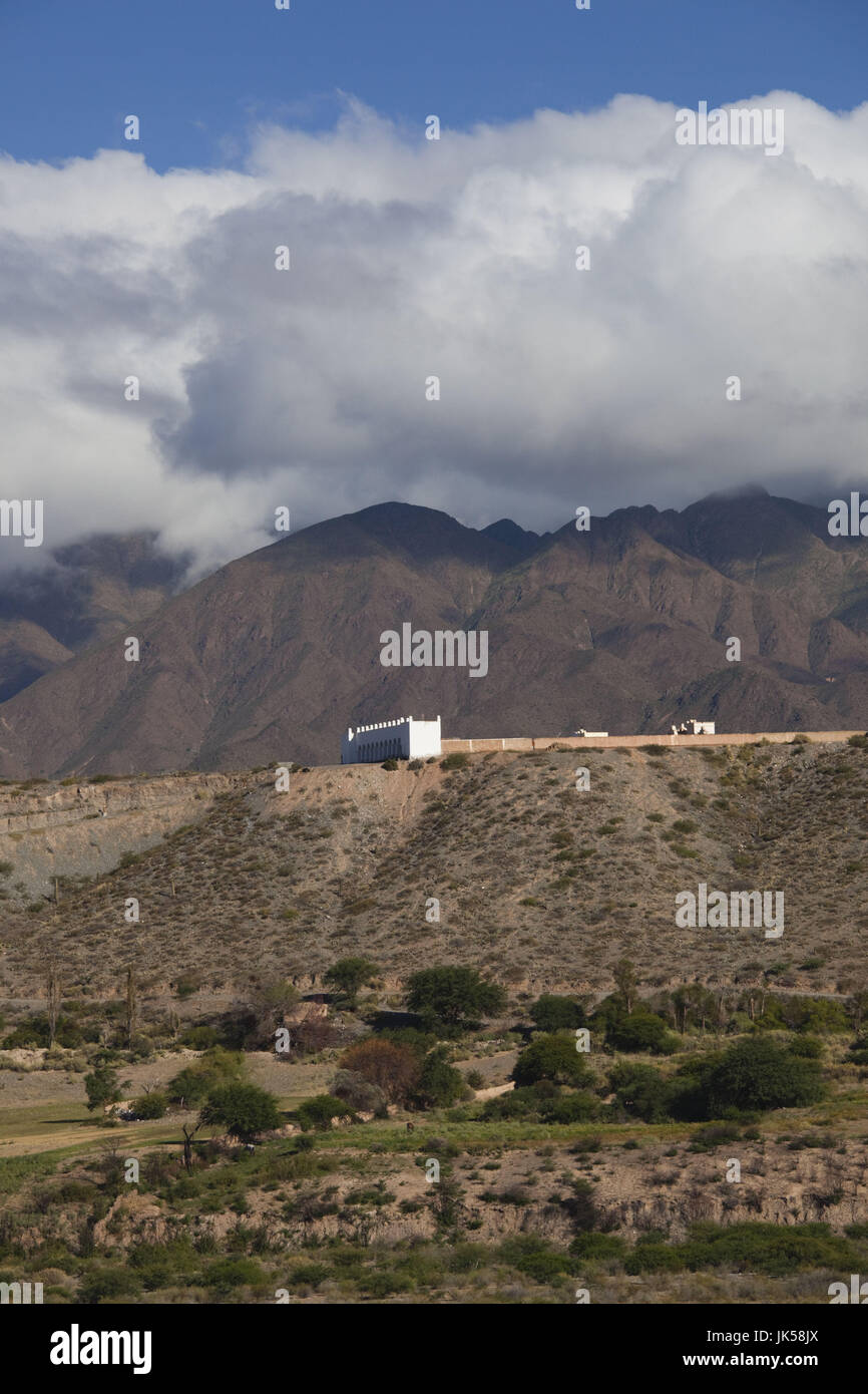 Argentina, Salta Province, Cachi, town cemetery from the east Stock Photo