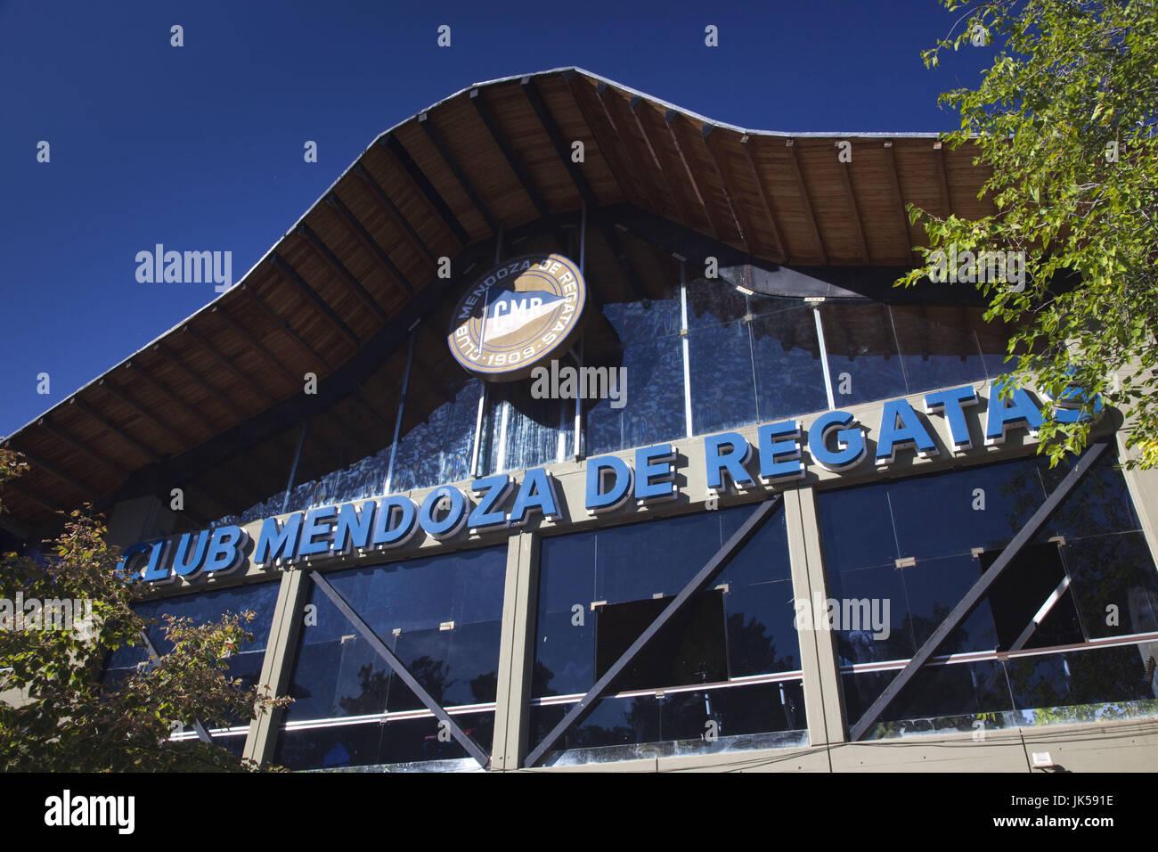 Argentina, Mendoza Province, Mendoza, Parque San Martin, Club Mendoza de Regata - Stock Image