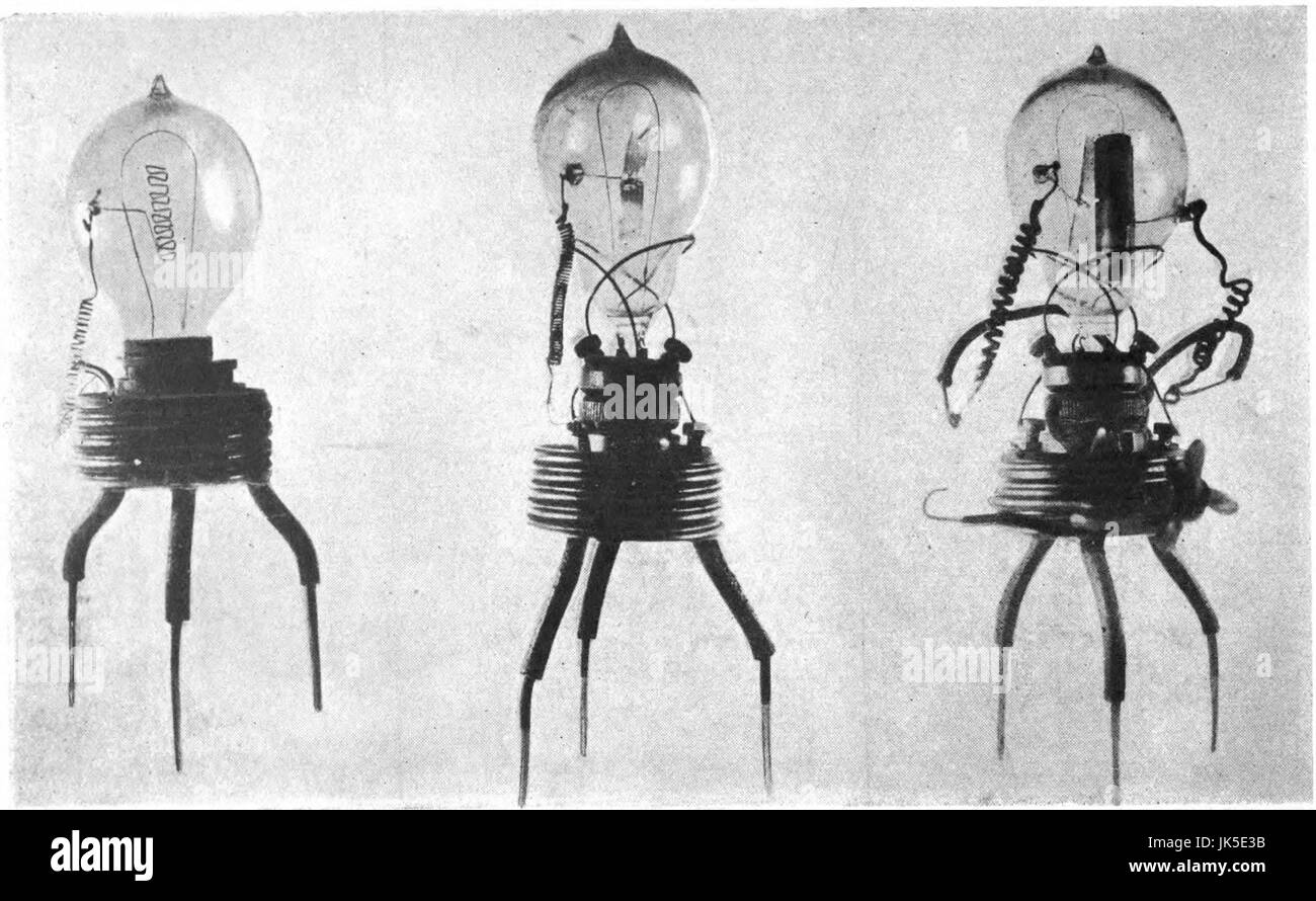 Fleming's first diodes - Stock Image