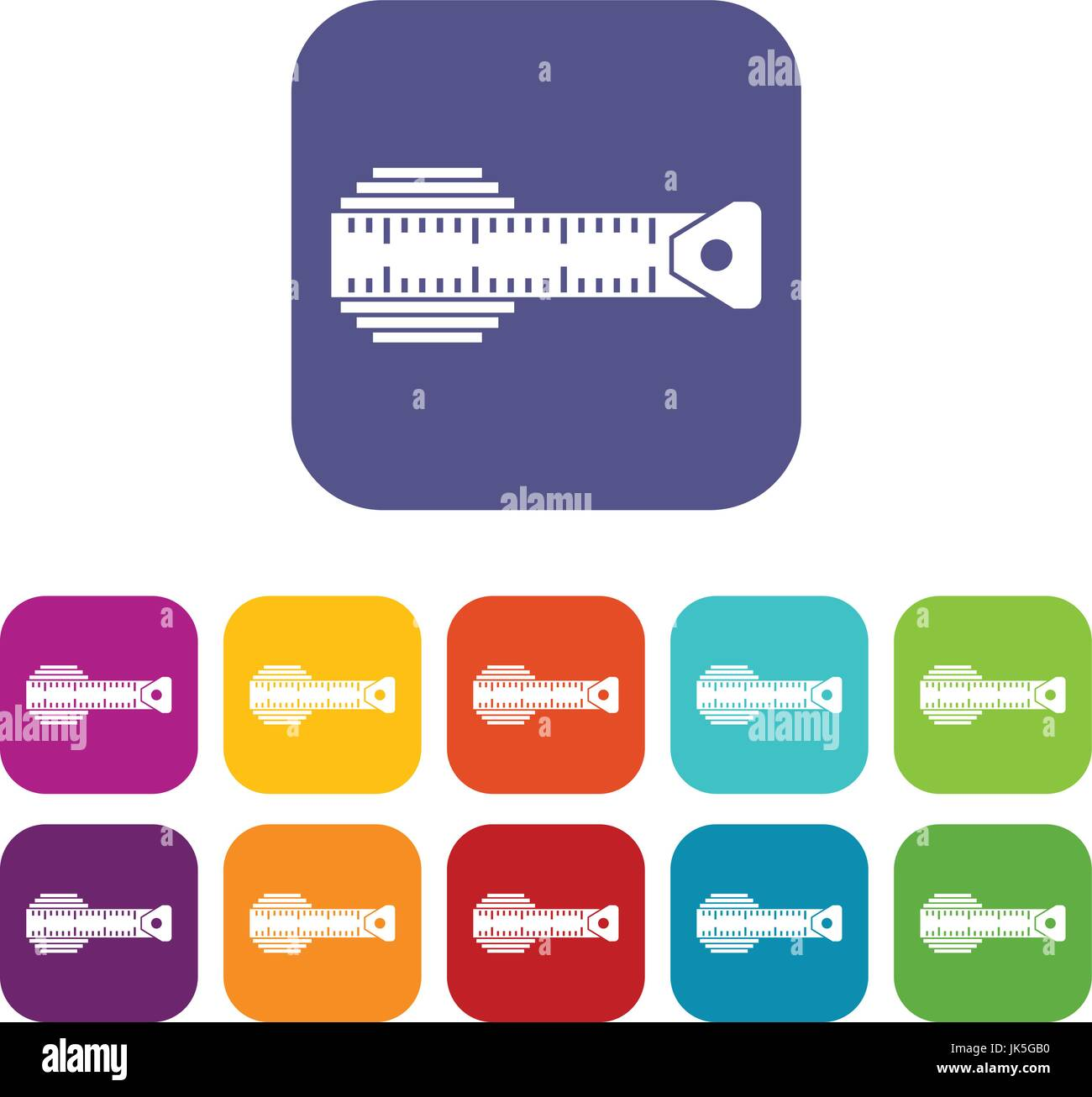 Measuring centimeter icons set - Stock Image
