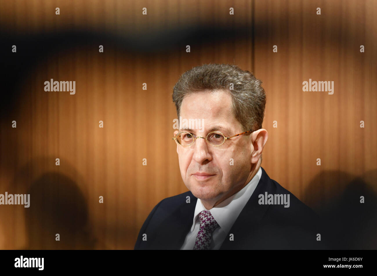 Hans-Georg Maaßen, President of the Federal Office for the Protection of the Constitution, answers questions - Stock Image
