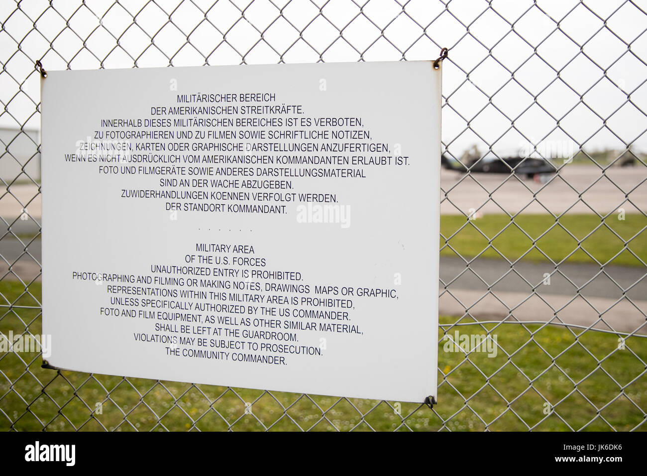 Katterbach Germany Map.Ansbach Germany 27th Apr 2017 A Sign At The Airfield Of The