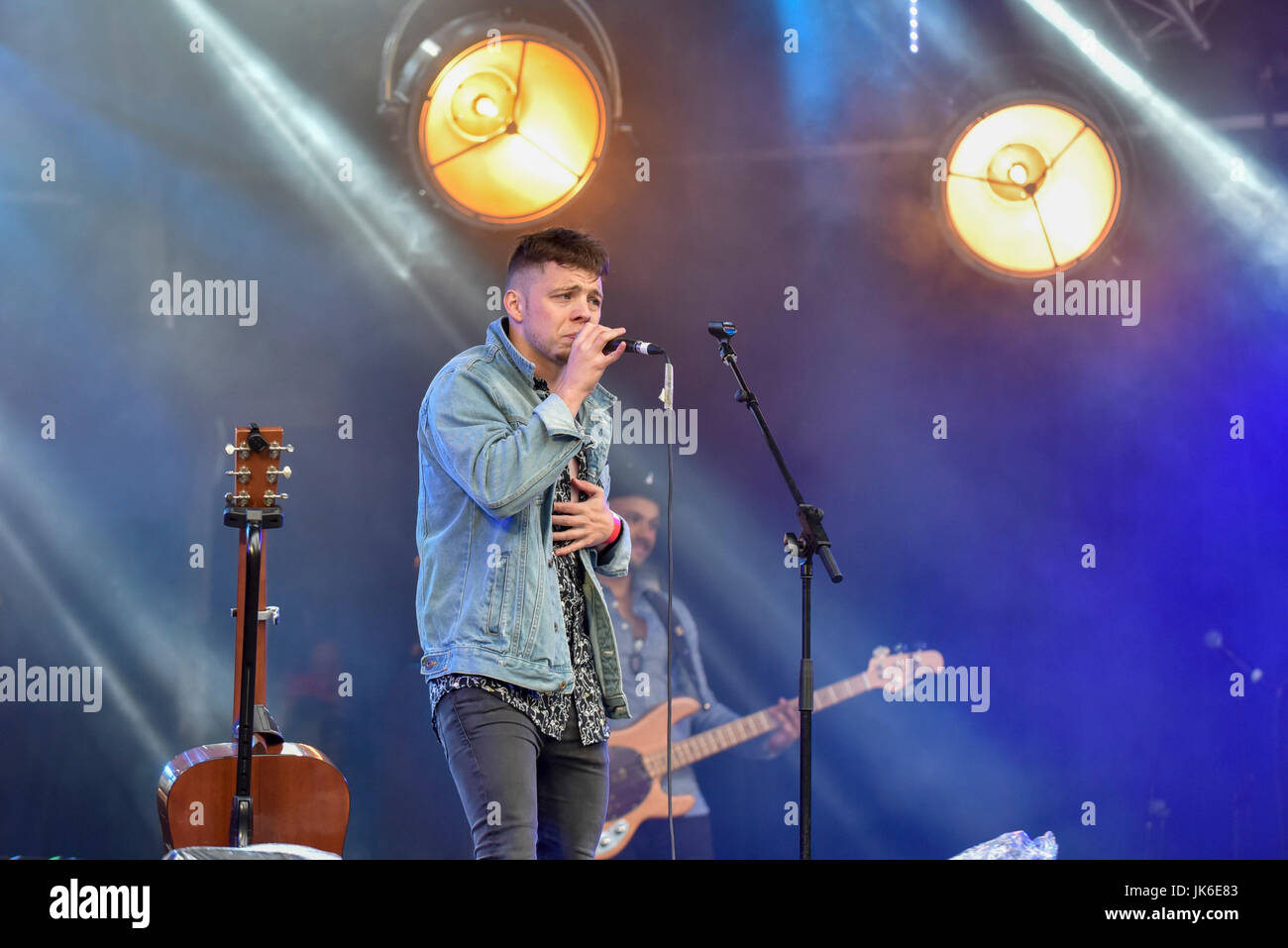 London, UK.  22 July 2017.  Kevin McGuire performs on stage.  'Nashville Meets London', a country music - Stock Image