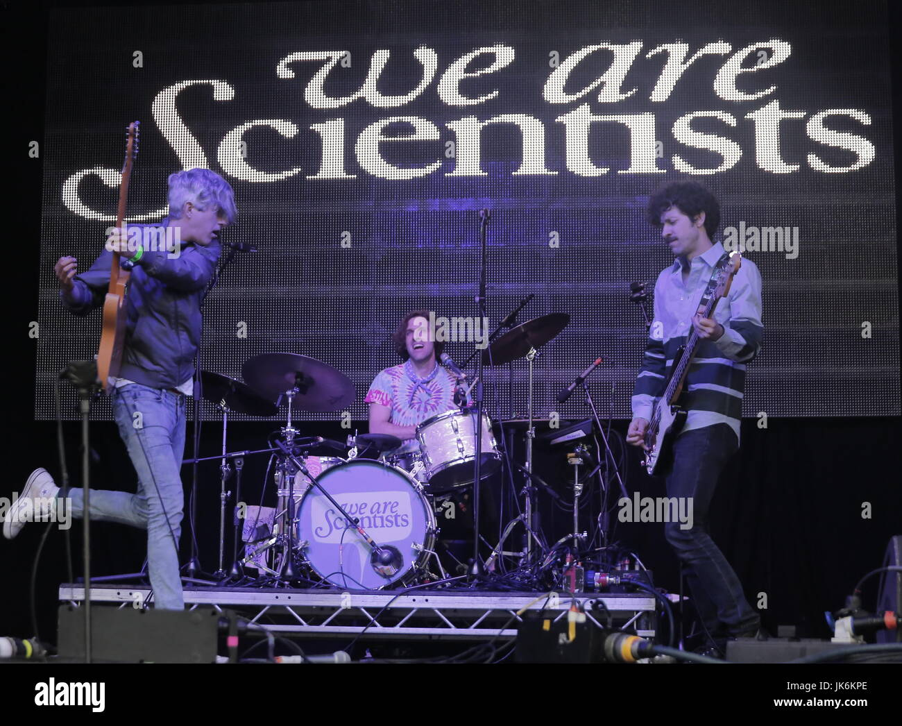 Sheffield, UK. 22nd July, 2017. American indie icons We are Scientists at Tramlines Festival, Sheffield 2017 Credit: Stock Photo