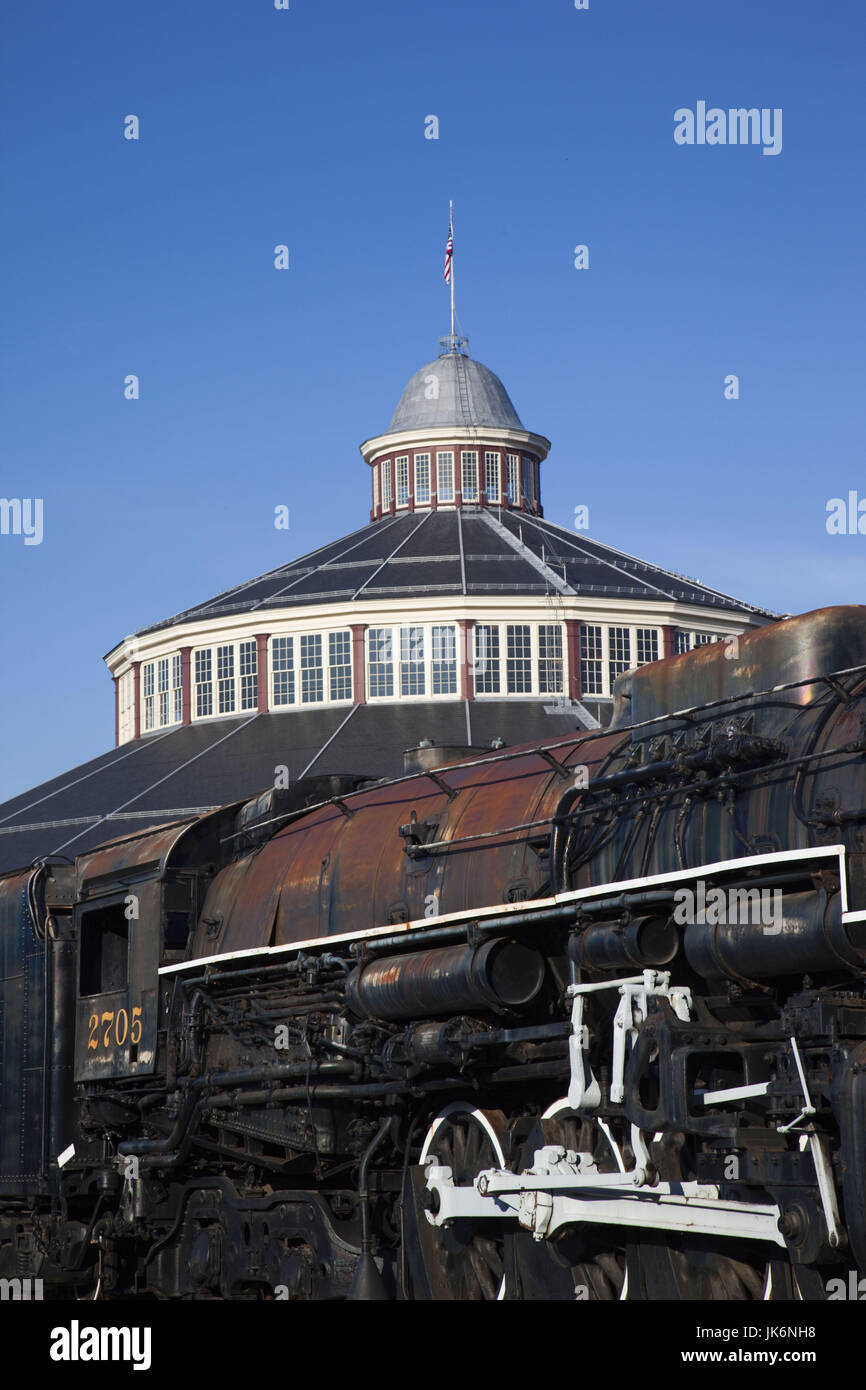 USA, Maryland, Baltimore, Baltimore and Ohio, B&O, Railroad Museum, old trains - Stock Image