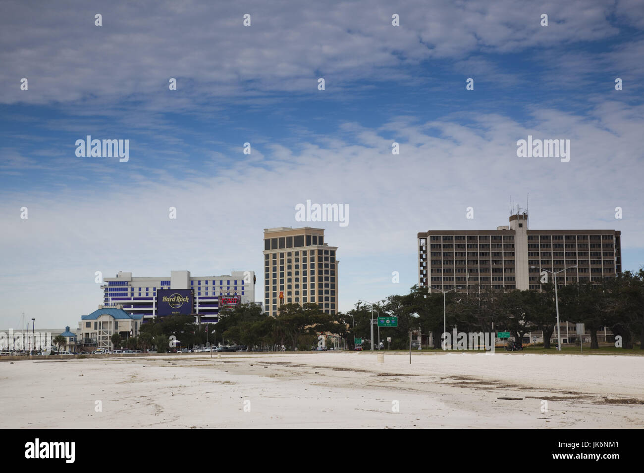 Usa Mississippi Biloxi Casinos On Beach Boulevard Stock Photo