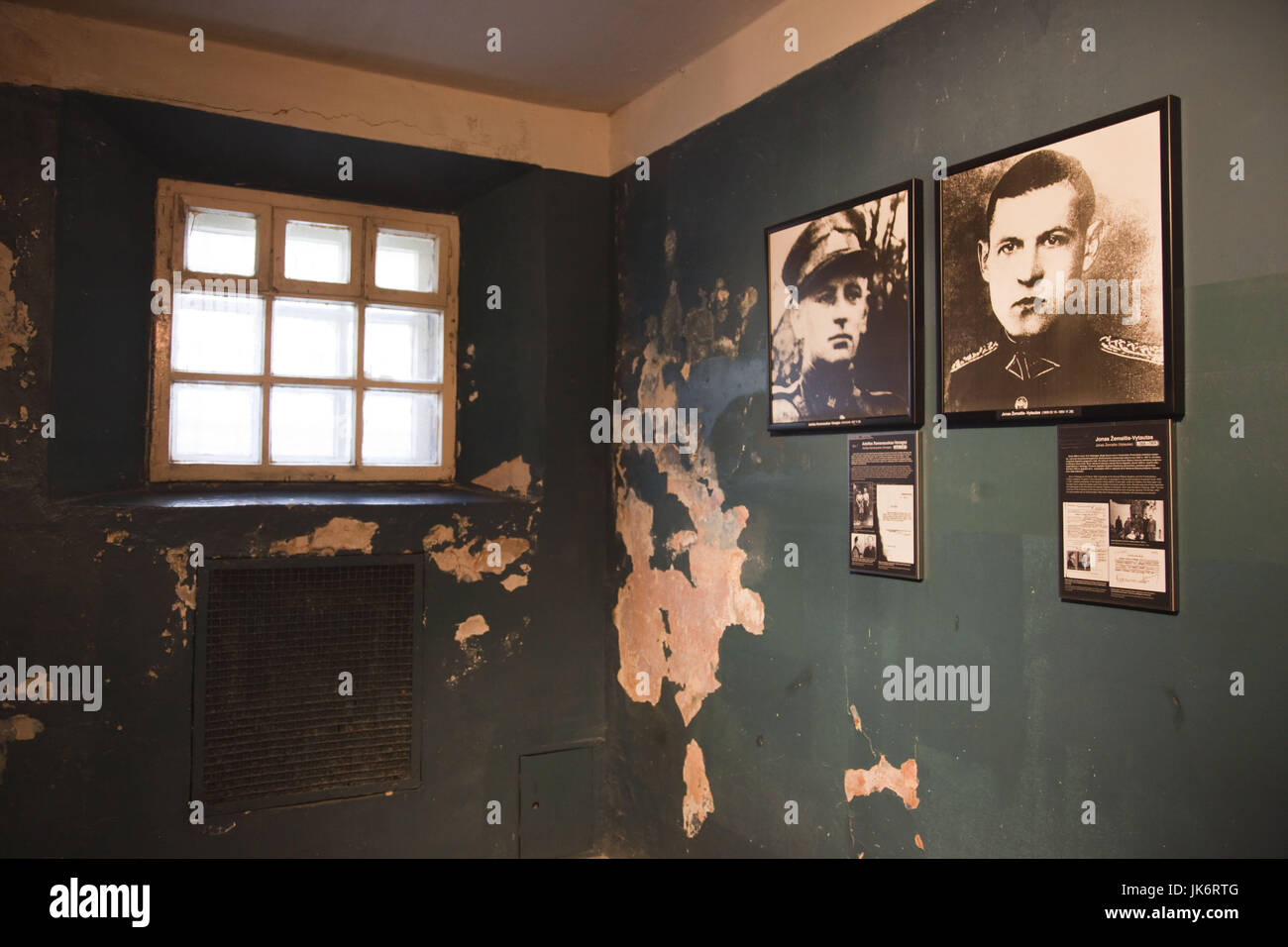 Lithuania, Vilnius, Museum of Genocide Victims, former KGB headquarters, photographs of victims - Stock Image