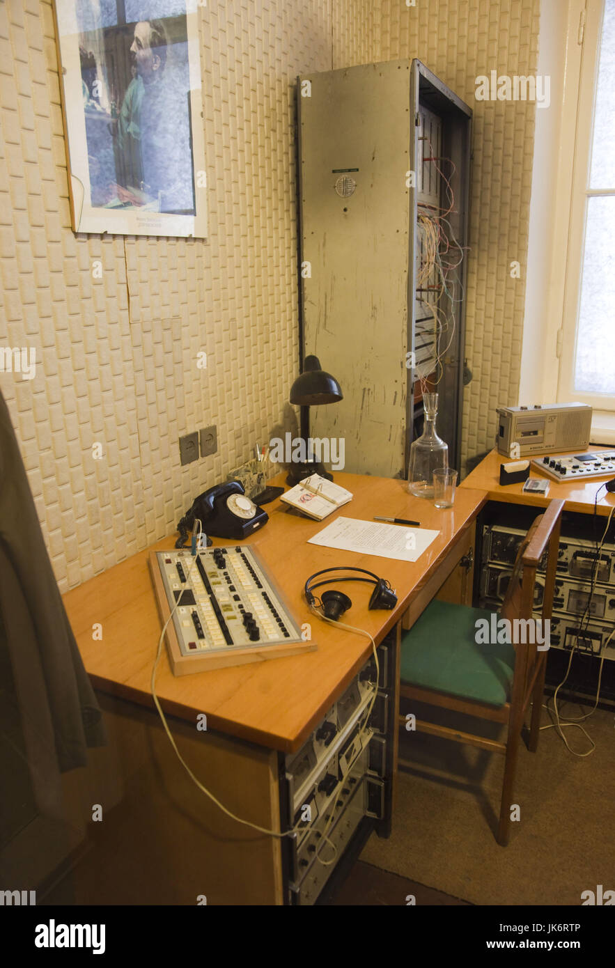 Lithuania, Vilnius, Museum of Genocide Victims, former KGB headquarters, guards area - Stock Image