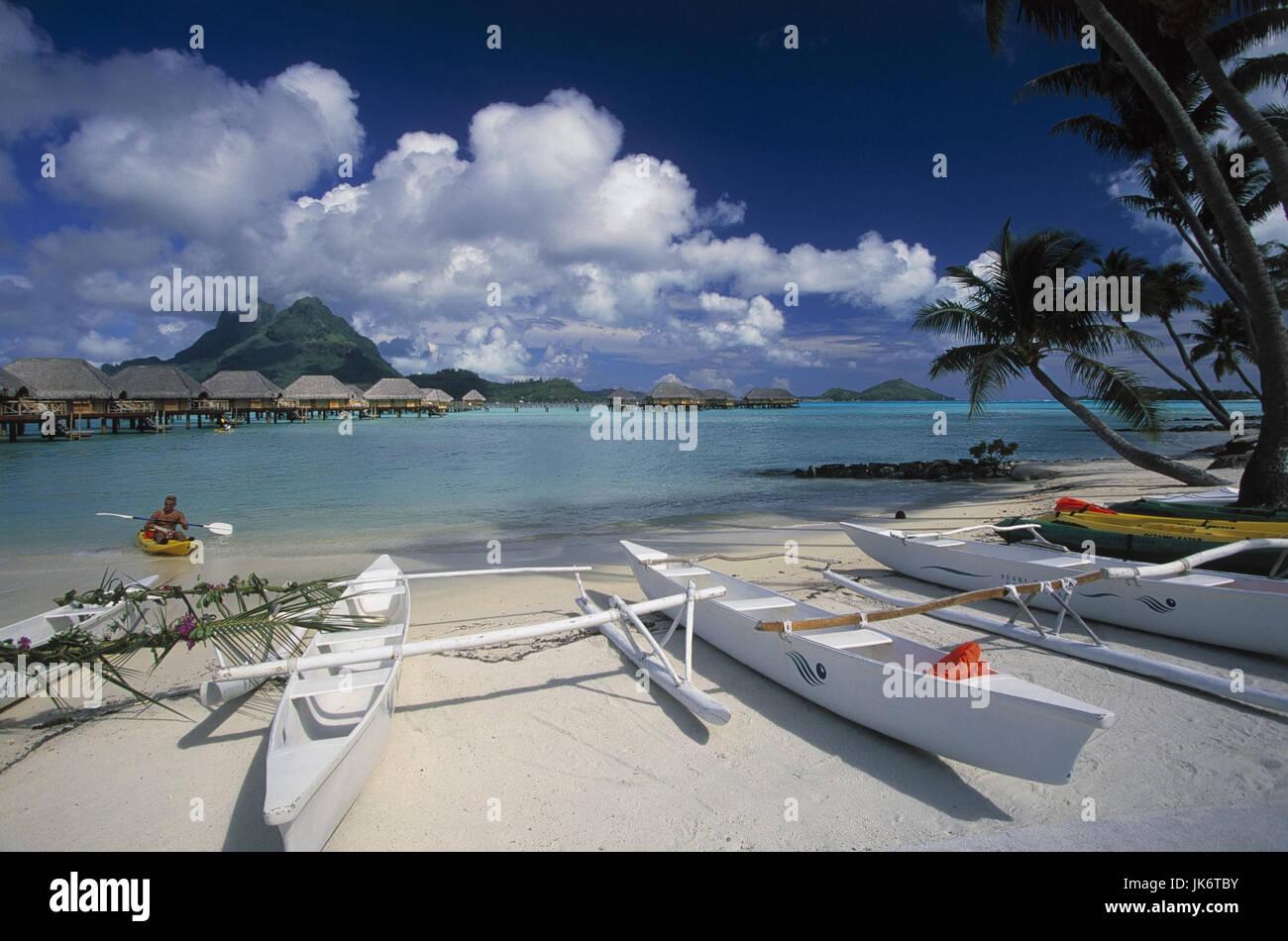 Französisch-Polynesien, Bora Bora, Pearl Bech Resort, Bungalows ...