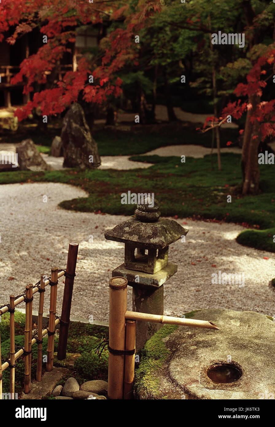 Japan, Kyushu, Dazaifu, Komiyo-ji  Tempel,  Ittekikaino-niwa Garten  innen, Fukuoka-ken, Komiyoji, Lebensart, japanisch, - Stock Image