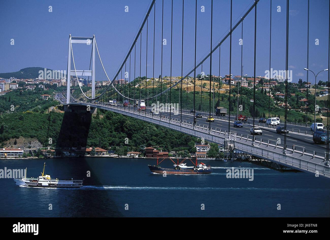 Türkei, Istanbul, Stadtviertel Ortaköy, Brücke, 'Bogazici Köprüsü'  Erste - Stock Image