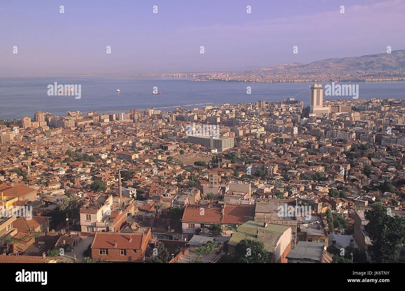 Türkei, Izmir, Stadtübersicht, Meer   Ägäisches Meer, Westküste, Provinz Izmir, Smyrna, - Stock Image