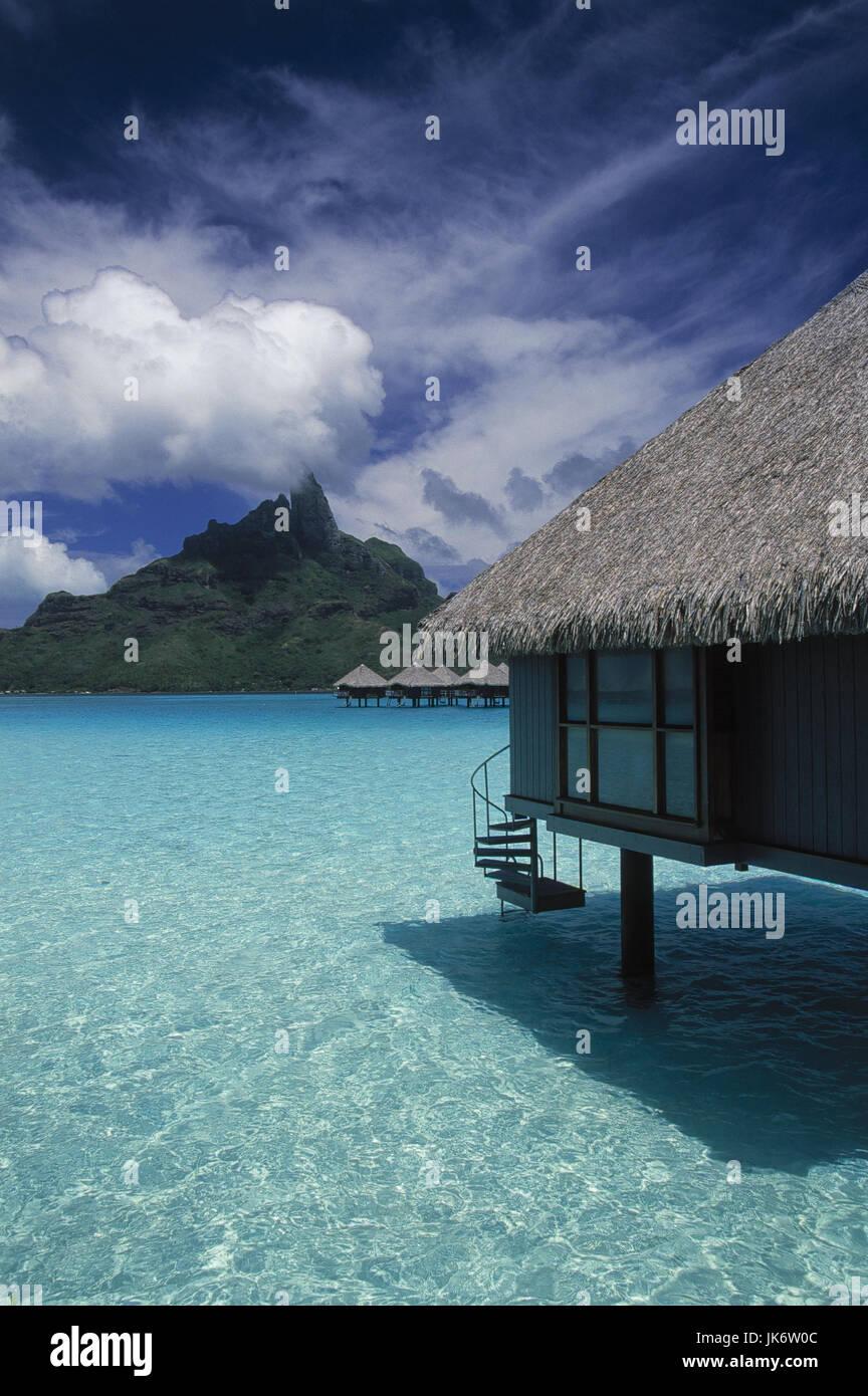Französisch-Polynesien, Bora Bora, Le Meridien Hotel, Bungalow Stock ...