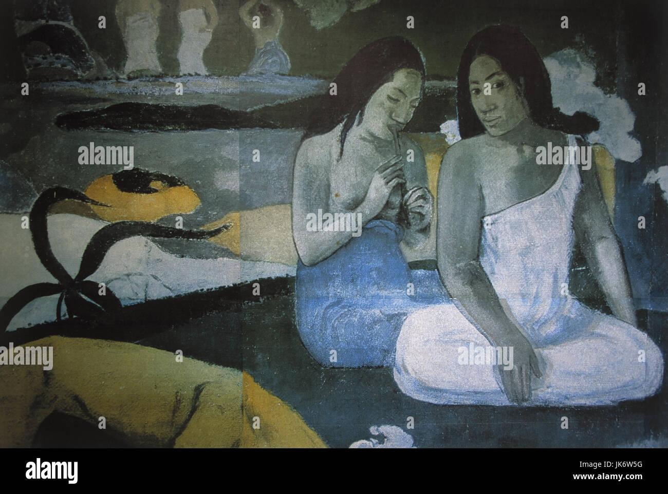 Französisch-Polynesien, Tahiti, Papeari,  Gauguin-Museum, Gemälde  Südsee, Ozeanien, Polynesien, - Stock Image