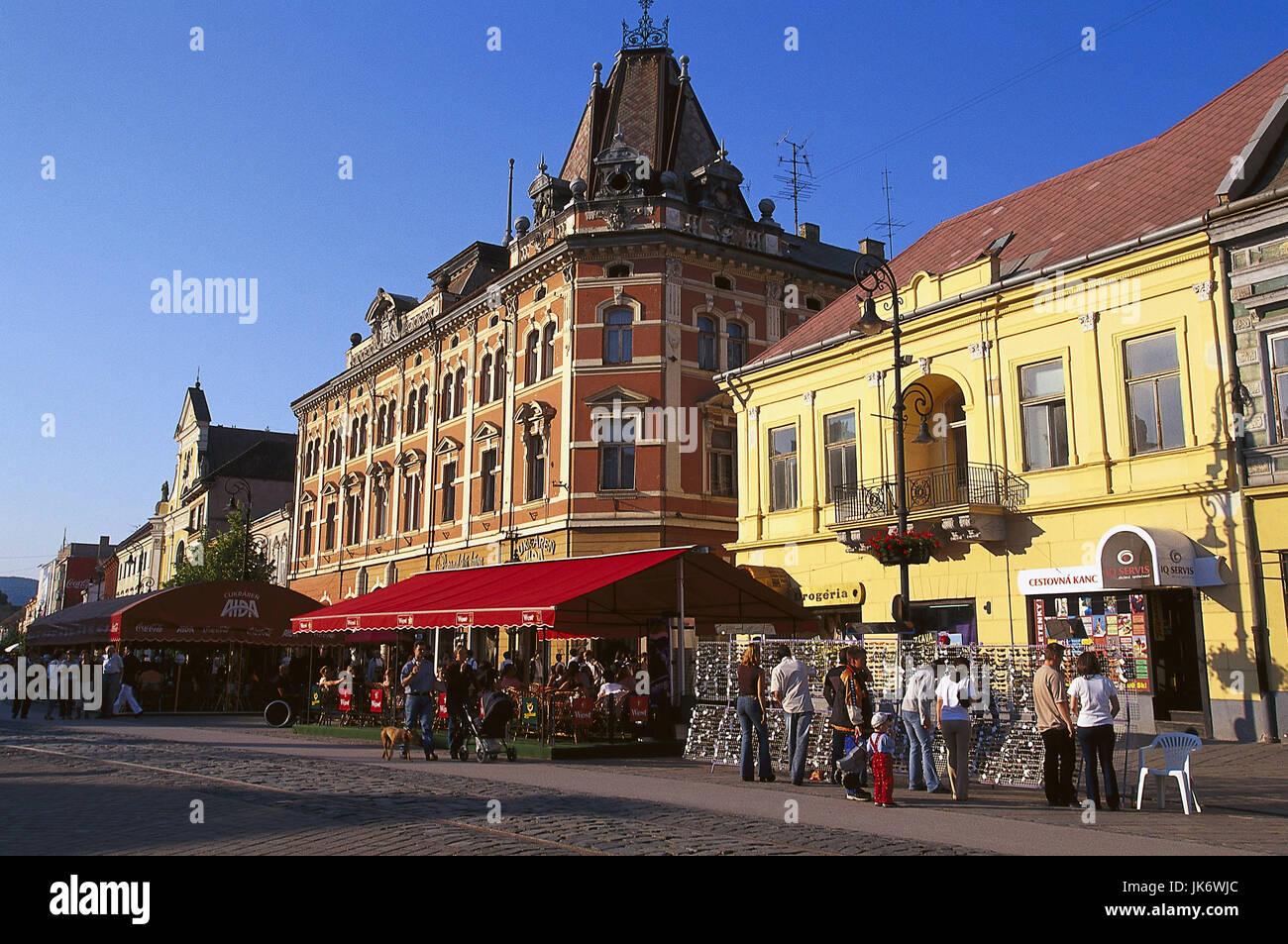 Slowakei, Region Spis, Kosice,  Hlavna ulica, Straßenverkauf, Touristen  Europa,  Slowakische Republik, Slovenská - Stock Image