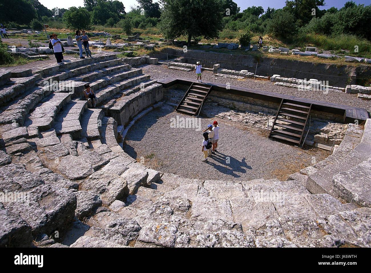 Türkei, Provinz Canakkale, Troja,   Ausgrabungsstätte, Odeion  außen, Ägäisches Meer, Westküste, - Stock Image