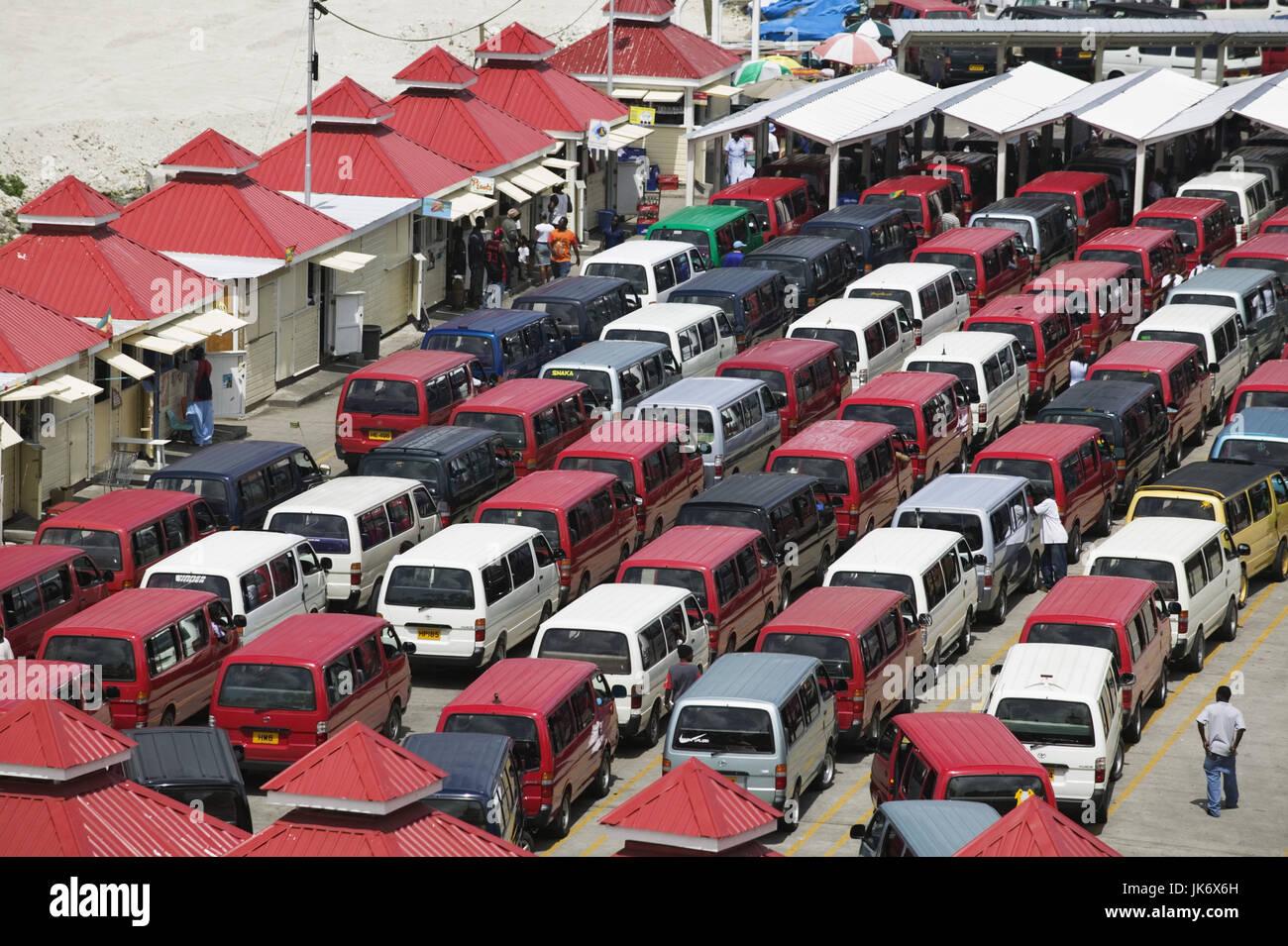 Grenada, St. George's, Busstation,  Übersicht  Karibik, Westindische Inseln, Kleine Antillen, Inseln über - Stock Image
