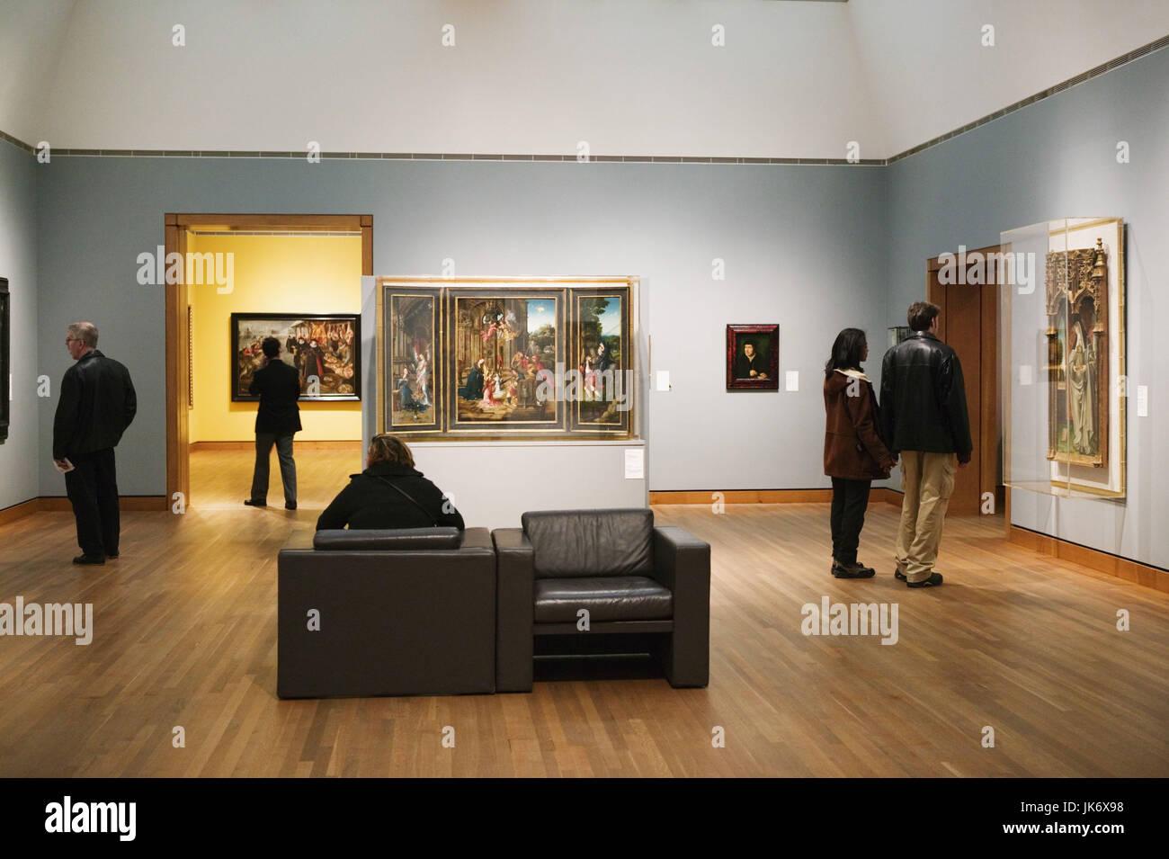 Kanada, Quebec, Montreal, Museum of Fine Art, Ausstellung, Gemälde, Besucher no model release Nordamerika, - Stock Image