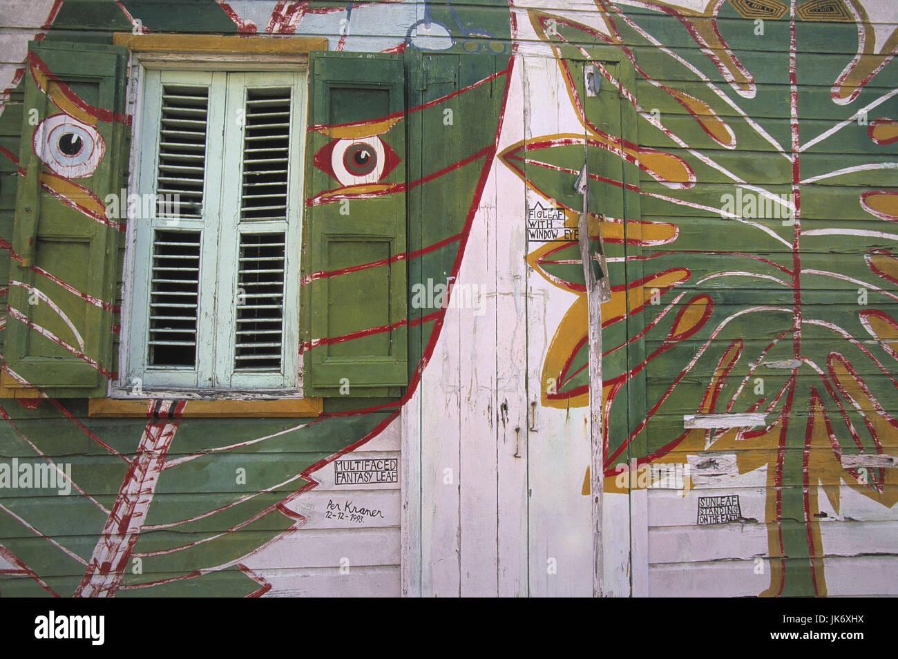Karibik Kleine Antillen Saint Lucia Choiseul Holzhaus Bemalt