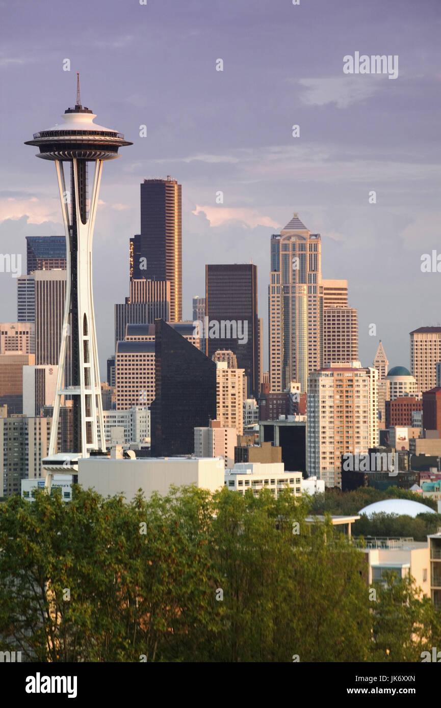 USA, Washington, Seattle,  Stadtansicht  Nordamerika, Vereinigte Staaten von Amerika, Stadt, Skyline, Gebäude, - Stock Image