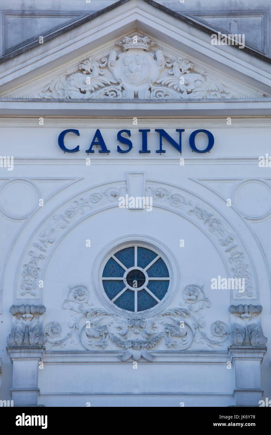 Spain, Cantabria Region, Cantabria Province, Santander, detail of the Casino Stock Photo