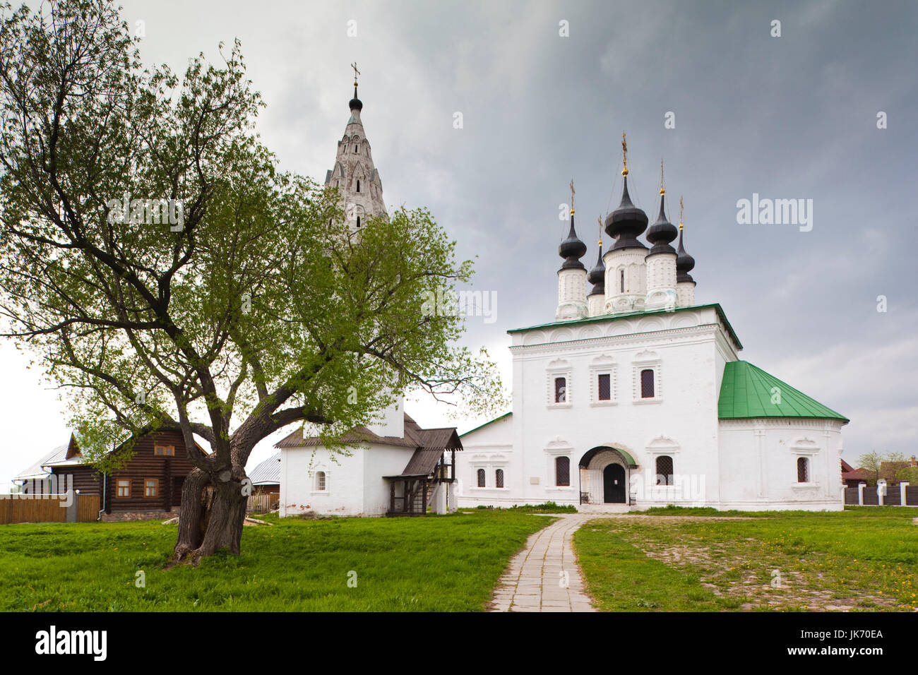Russia, Vladimir Oblast, Golden Ring, Suzdal, Alexandrovsky Convent - Stock Image