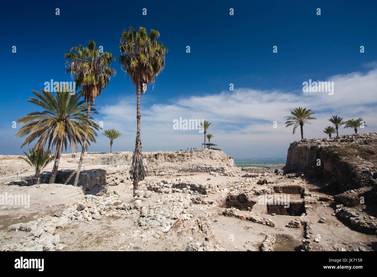 Israel, North Coast, Megiddo, Megiddo National Park, also known as Armageddon, ruins of ancient city - Stock Image