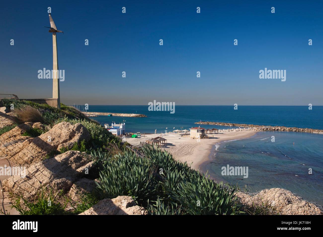 Israel, Tel Aviv, beachfront, Nordau Beach - Stock Image
