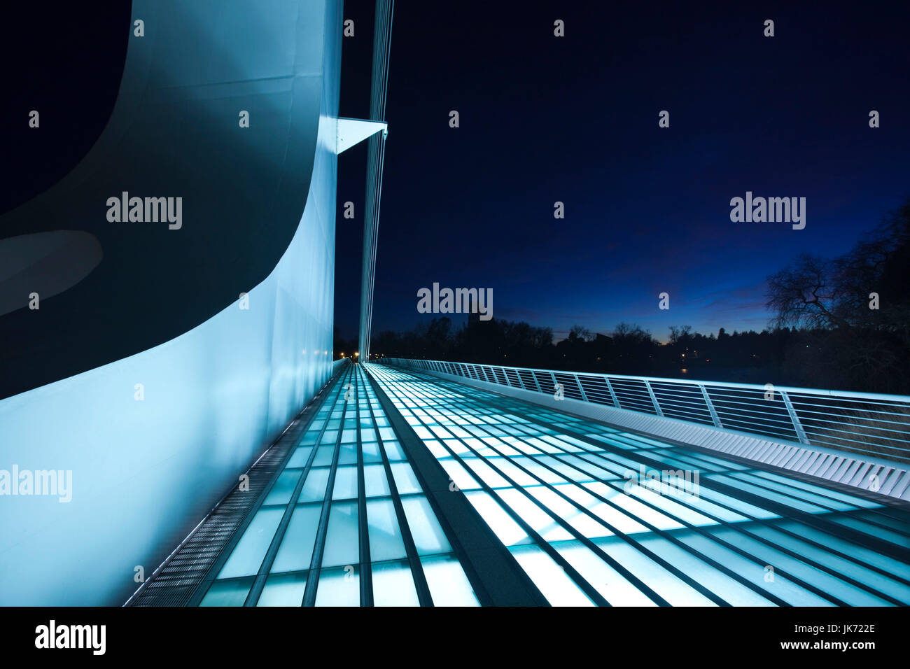 USA, California, Northern California, Northern Mountains, Redding, Turtle Bay Park, Sundial Bridge, Santiago Calatrava, - Stock Image