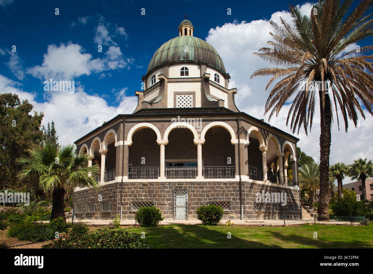 Israel, The Galilee, Tabgha, Mount of the Beatitudes, Church of the Beatitudes, exterior Stock Photo