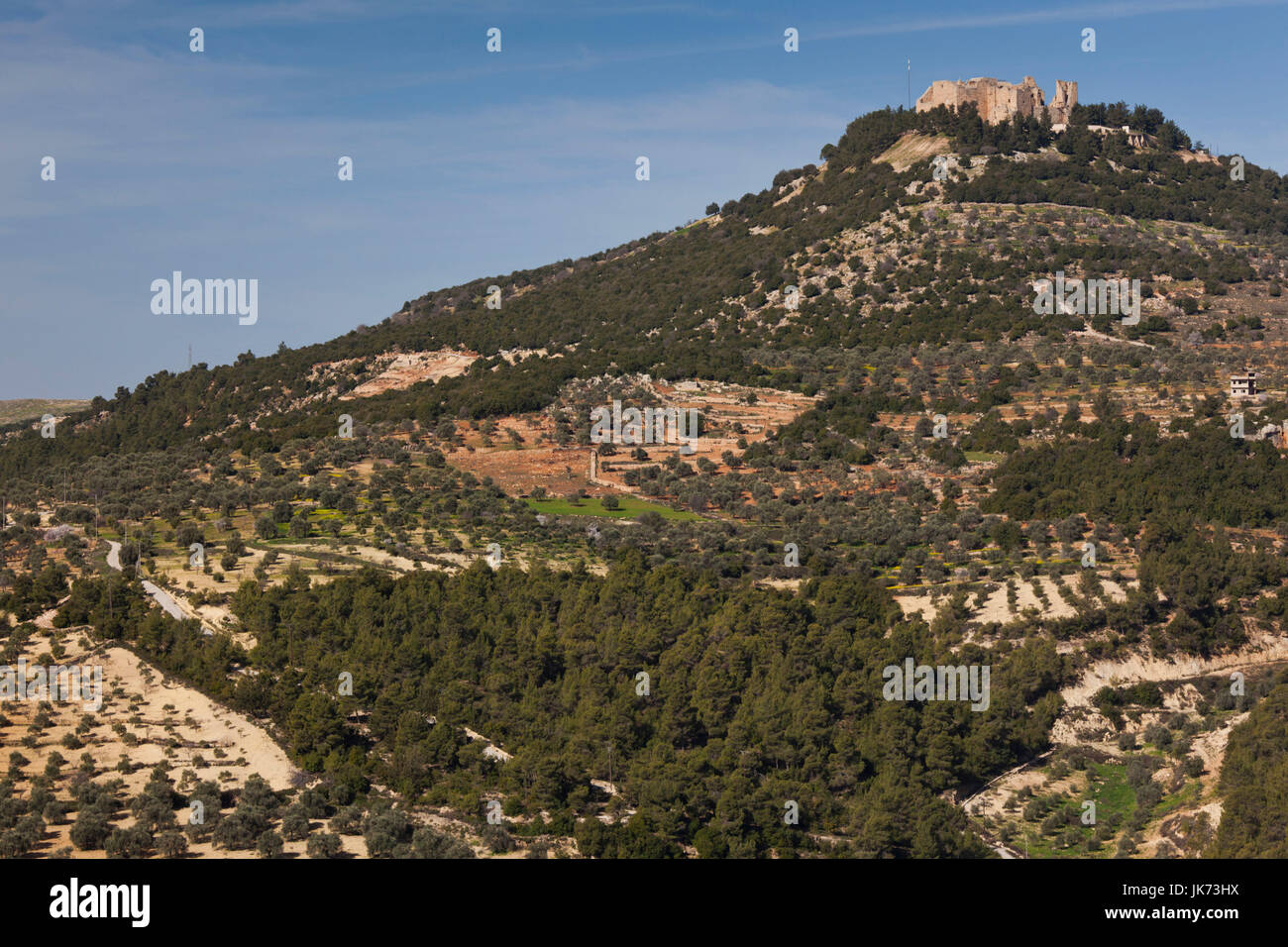 Jordan, Ajloun, Ajloun Castle, Qala-at Ar-Rabad, built 1188, exterior Stock Photo