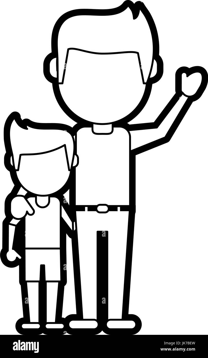 dad and son design - Stock Image