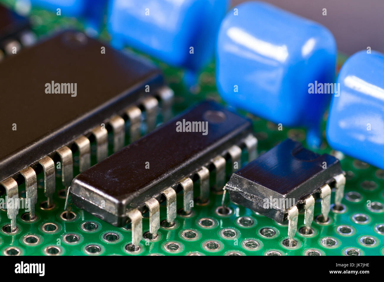 Printed Circuit Board Stock Photos As Before We Can Copy The Onto A And Integral Circuits Capacitors On Image