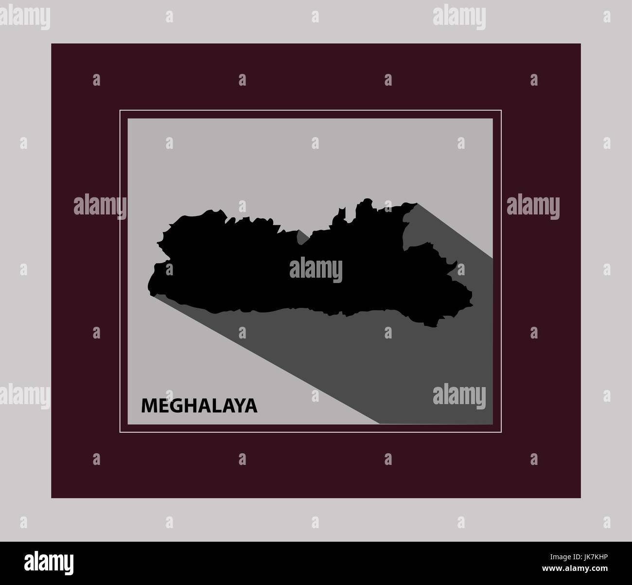 The state of Meghalaya - Stock Vector