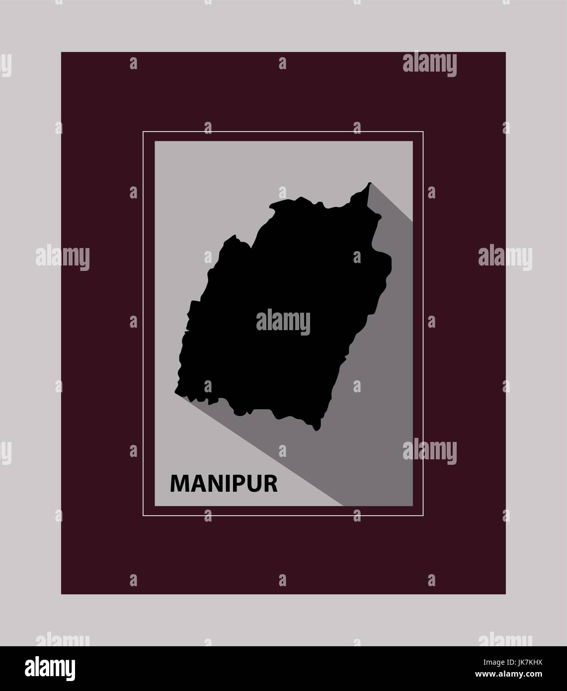The State of Manipur - Stock Vector