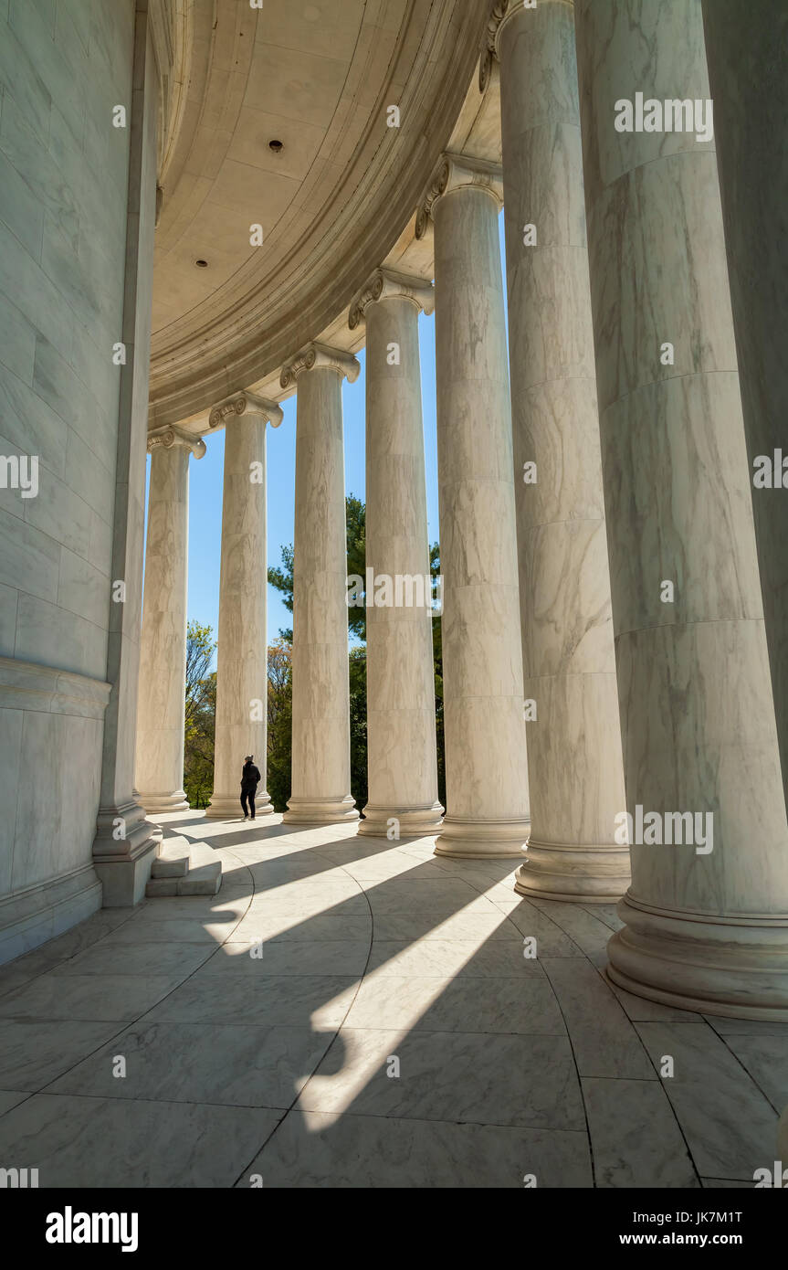 the columns at the Thomas Jefferson Memorial Building in Washington, D.C., USA - Stock Image