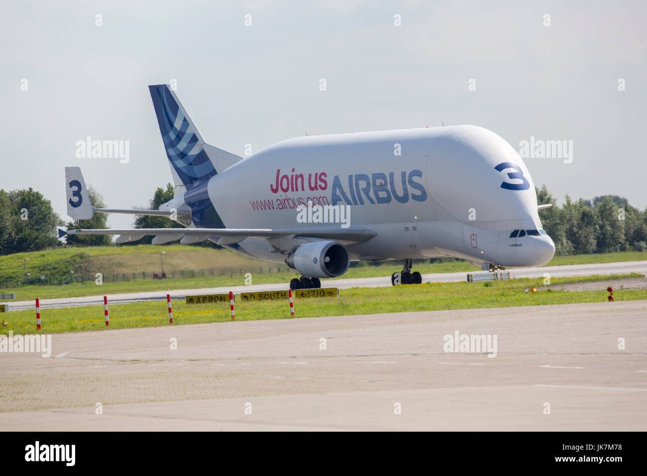 The Airbus A300-600ST, known as the 'Beluga' for it's unique resemblance to the Minke whale boasts one of the biggest - Stock Image