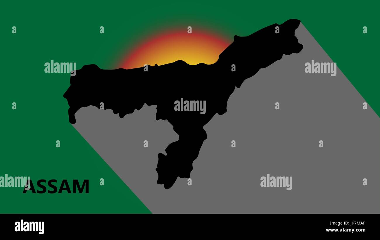 The State of Assam - Stock Vector
