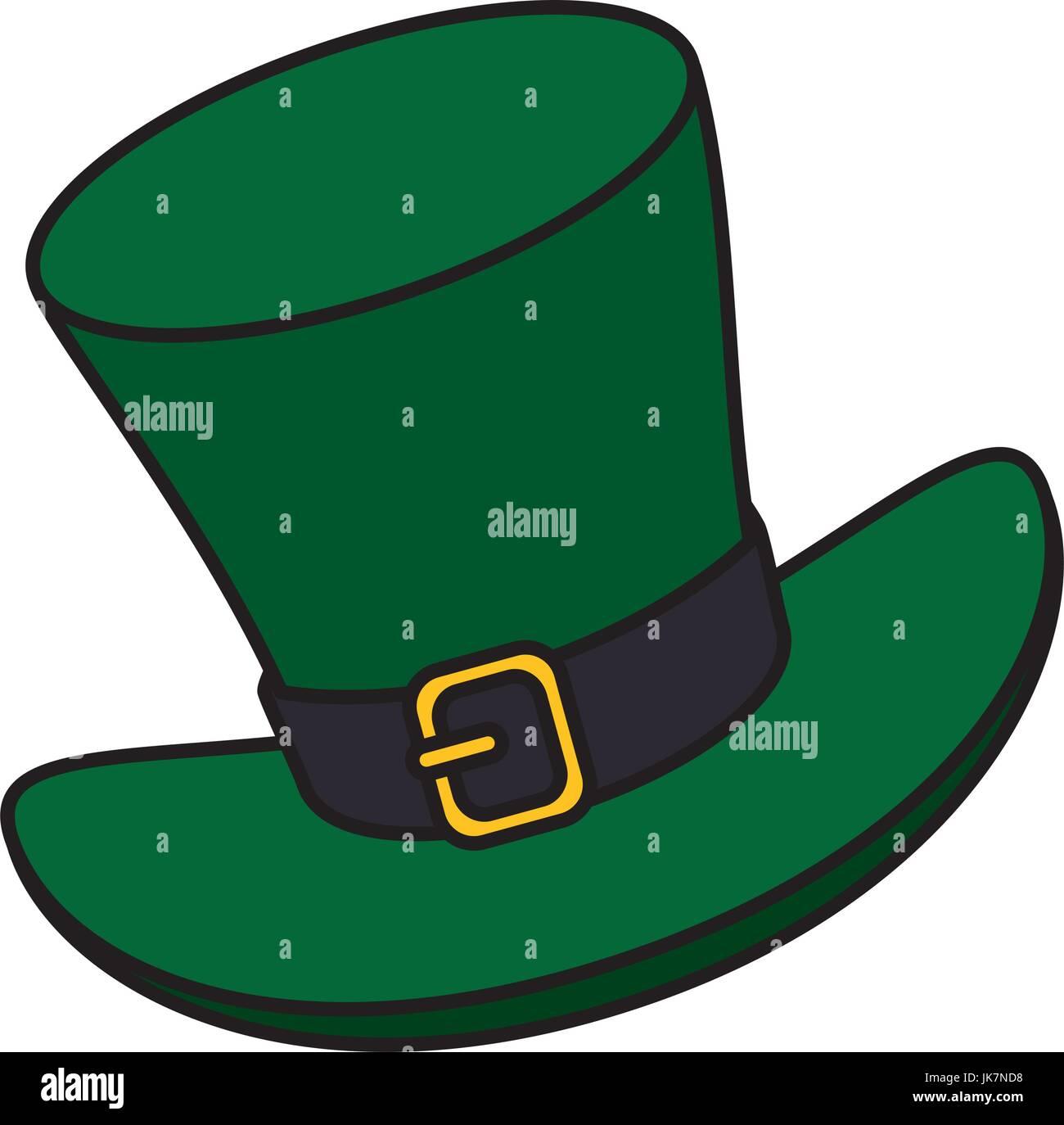 95a11096e3d4f Irish elf hat isolated icon Stock Vector Art   Illustration