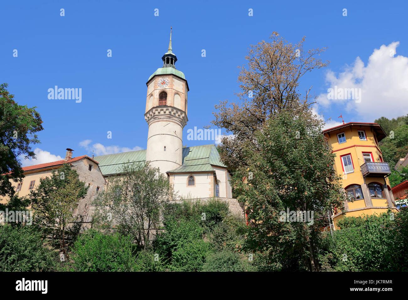Living tower of the sirs of Hotting, Hotting, Innsbruck, Tyrol, Austria   Wohnturm der Herren von Hoetting, Hötting, - Stock Image