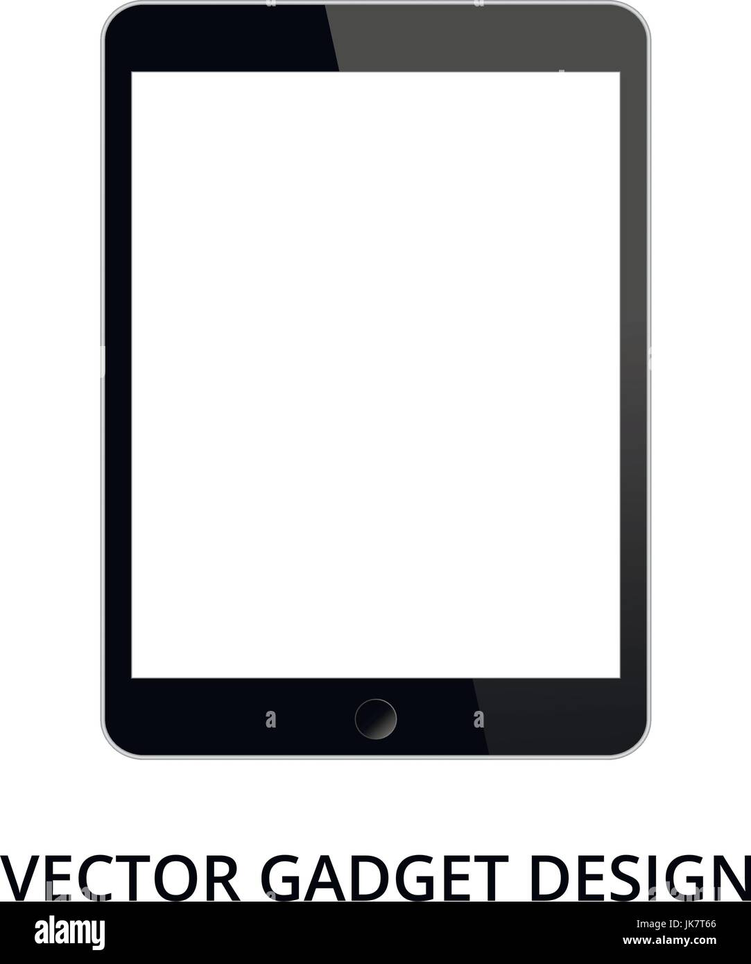 Tablet pc on white background. Realistic vector illustration, for graphic and web design - Stock Image